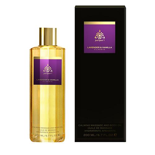 Lavender & Vanilla Calming Massage Body Oil